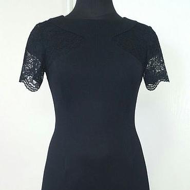 Одежда ручной работы. Ярмарка Мастеров - ручная работа 203:черное коктейльное платье кружевное. Handmade.