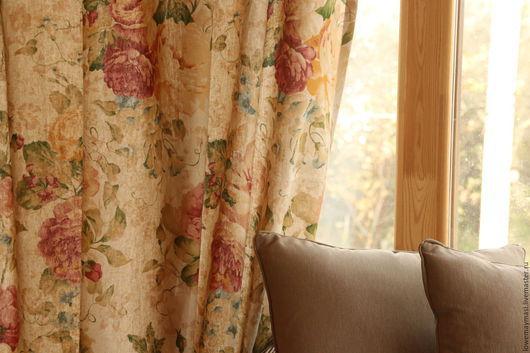 Текстиль, ковры ручной работы. Ярмарка Мастеров - ручная работа. Купить Шторы льняные Вдохновение Прованса. Handmade. Бежевый