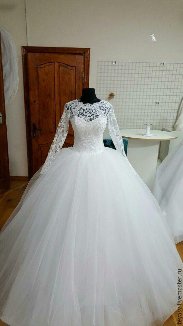 736439e3d ручной работы. Ярмарка Мастеров - ручная работа. Купить Свадебное платье с пышной  юбкой. ...