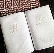 Аксессуары handmade. Livemaster - original item Men`s handkerchiefs with embroidery Monogram Set. Handmade.