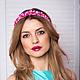 """Диадемы, обручи ручной работы. Обруч для волос """"Pink"""". Anna Vitvinova. Интернет-магазин Ярмарка Мастеров. Розовый, вечернее украшение"""