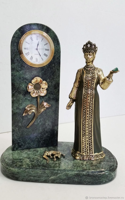 """Часы для дома ручной работы. Ярмарка Мастеров - ручная работа. Купить Часы """"Хозяйка Медной горы"""". Handmade. Литье, подарок"""