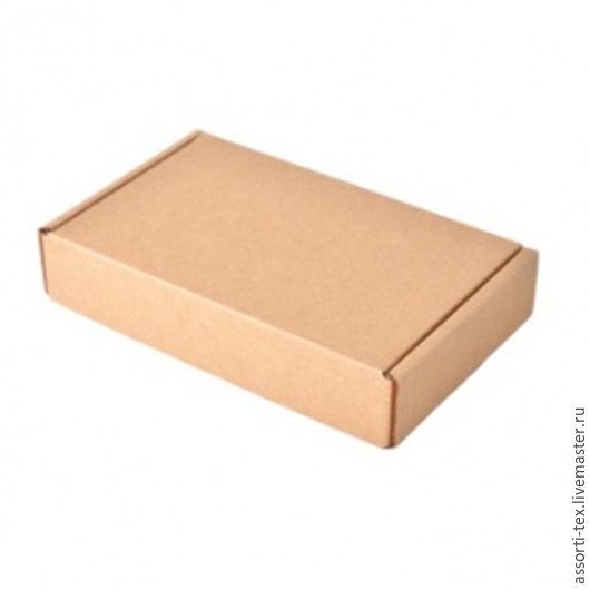 Упаковка ручной работы. Ярмарка Мастеров - ручная работа. Купить Самосборная почтовая коробка 270х165х50. Handmade. Бежевый, коробочка