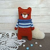 Куклы и игрушки handmade. Livemaster - original item Bear crocheted bear Cub. Handmade.
