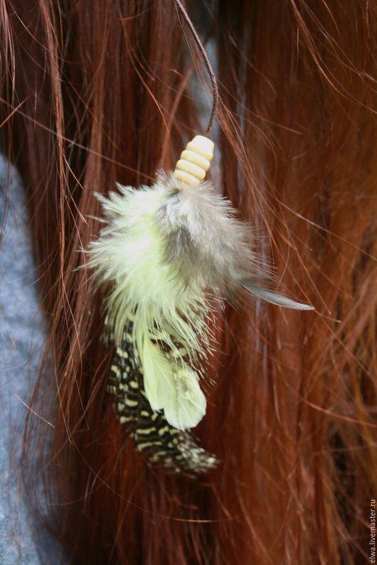 Диадемы, обручи ручной работы. Ярмарка Мастеров - ручная работа. Купить Перья для хайратника, украшение для волос, перья в волосы; хиппи, бохо. Handmade.