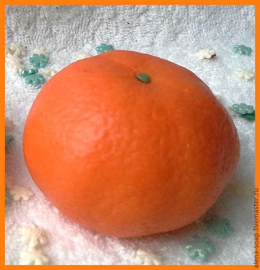 """Мыло ручной работы. Ярмарка Мастеров - ручная работа. Купить Новогоднее мыло """"Мандаринка натуральная"""" АКЦИЯ. Handmade. Оранжевый"""