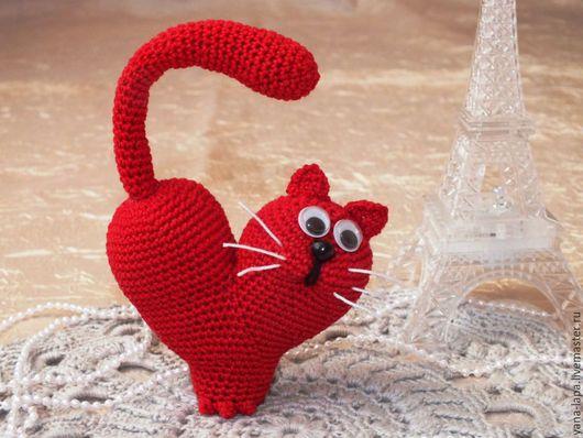 """Миниатюра ручной работы. Ярмарка Мастеров - ручная работа. Купить Амигуруми """"Влюбленный кот"""". Handmade. Разноцветный, игрушка, сердце"""