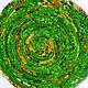 """Тарелки ручной работы. Ярмарка Мастеров - ручная работа. Купить Текстильная тарелка """"Зеленое лето"""". Handmade. Ярко-зелёный, лето"""
