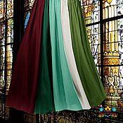 """Одежда ручной работы. Ярмарка Мастеров - ручная работа юбка в пол длинная  """"Англия"""" 10-клинка из шифона. Handmade."""