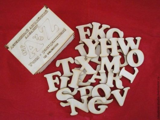 Декупаж и роспись ручной работы. Ярмарка Мастеров - ручная работа. Купить Алфавит английский в деревянной коробке, заготовка для творчества. Handmade.