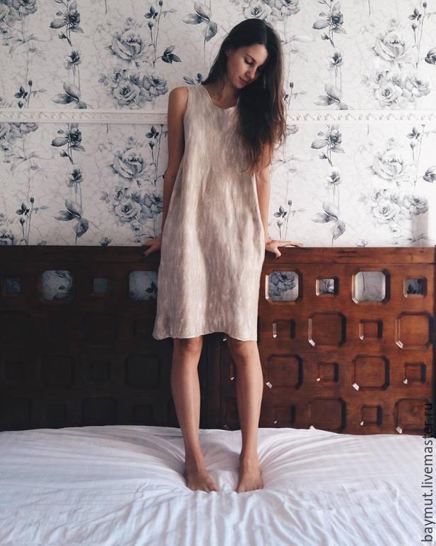 Felted dress 'Soft gold', Dresses, Lugansk,  Фото №1