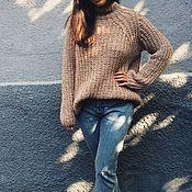 Одежда ручной работы. Ярмарка Мастеров - ручная работа Пуловер английской резинкой. Handmade.