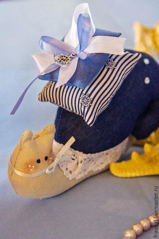 Куклы Тильды ручной работы. Ярмарка Мастеров - ручная работа. Купить Улитка Тильда в морском стиле. Handmade. Синий, якорь
