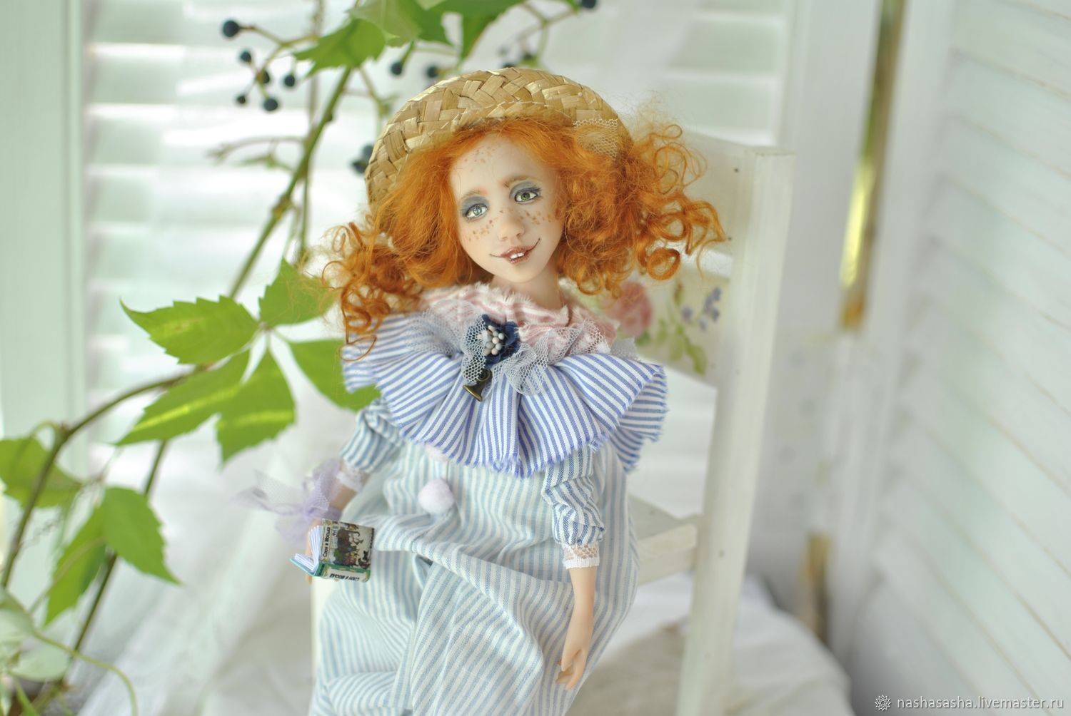 Lauren.' At noon with a book', Boudoir doll, Moscow,  Фото №1