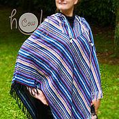 """Одежда ручной работы. Ярмарка Мастеров - ручная работа Пончо с капюшоном """"Tribal Summer"""". Handmade."""