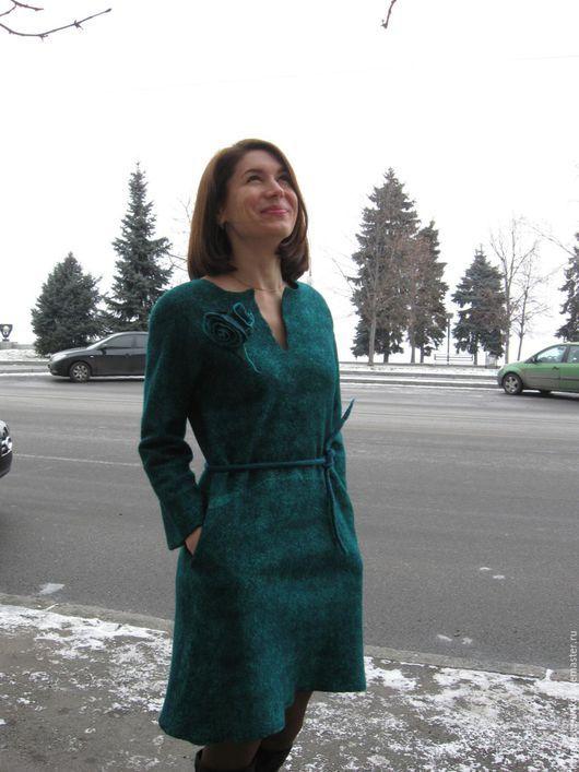 """Платья ручной работы. Ярмарка Мастеров - ручная работа. Купить Платье """"Малахит"""". Handmade. Тёмно-зелёный, платье"""