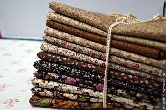 Шитье ручной работы. Ярмарка Мастеров - ручная работа. Купить Набор тканей Королевский Пэйсли Коричневый. Для текстиля, пэчворка. Handmade.