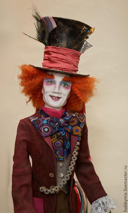 Коллекционные куклы ручной работы. Ярмарка Мастеров - ручная работа. Купить Безумный Шляпник-2. Handmade. Яркий, шерсть 100%