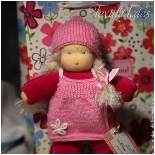 Вальдорфская игрушка ручной работы. Ярмарка Мастеров - ручная работа. Купить Вальдорфская куколка в кармашек. Handmade. Розовый, игровая кукла