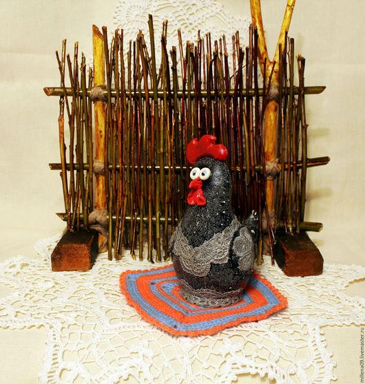 Подарки на Пасху ручной работы. Ярмарка Мастеров - ручная работа. Купить Пасхальная курочка грунтованный текстиль. Handmade. Темно-серый