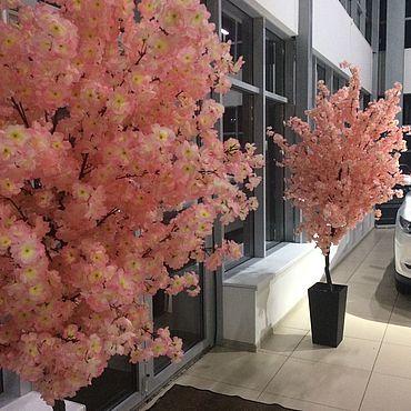 Цветы и флористика ручной работы. Ярмарка Мастеров - ручная работа Сакура цветущая Искусственное дерево -173 см. Handmade.