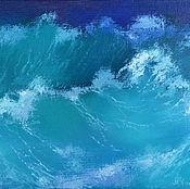 Картины и панно ручной работы. Ярмарка Мастеров - ручная работа Картина Волны морские. Handmade.