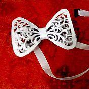 Аксессуары ручной работы. Ярмарка Мастеров - ручная работа Ажурный галстук - бабочка. Handmade.