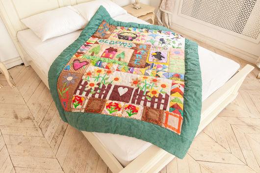 Пледы и одеяла ручной работы. Ярмарка Мастеров - ручная работа. Купить Детское одеяло в стиле пэчворк. Handmade. Разноцветный, квилт