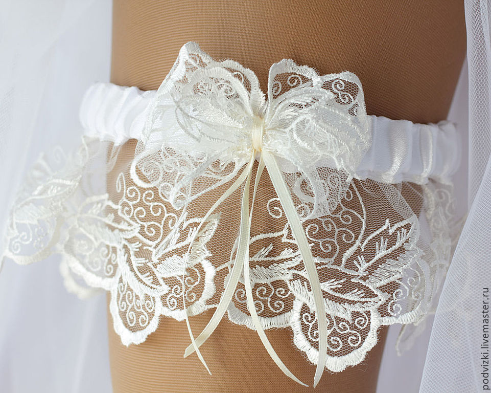 Как сшить подвязку для невесты своими руками кружево 14