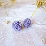 Украшения handmade. Livemaster - original item Earrings Micro clove Delicate Lilac Flowers. Handmade.