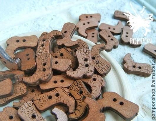Шитье ручной работы. Ярмарка Мастеров - ручная работа. Купить Пуговицы деревянные. Handmade. Коричневый, пуговицы, пуговицы декоративные