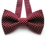 Аксессуары handmade. Livemaster - original item Burgundy-and-eye closure polka dot. Handmade.