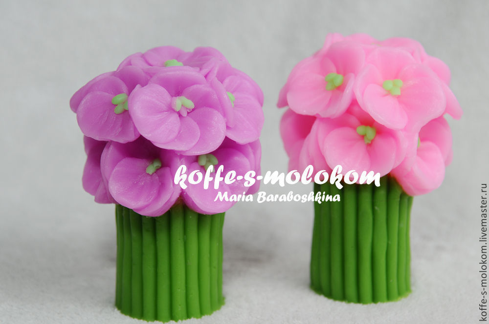 Silicone molds for soap High bouquet of pansies, Form, Moscow,  Фото №1