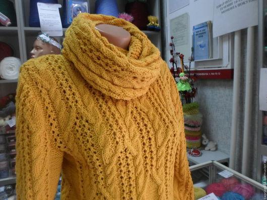 """Кофты и свитера ручной работы. Ярмарка Мастеров - ручная работа. Купить Джемпер+снуд""""А зимою так хочется солнца..."""". Handmade."""