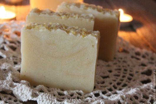 Мыло ручной работы. Ярмарка Мастеров - ручная работа. Купить ОБЕРЕГ Натуральное мыло с ладаном. Handmade. Бежевый, особое мыло