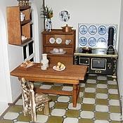 Куклы и игрушки ручной работы. Ярмарка Мастеров - ручная работа Кухня в кукольном домике. Handmade.