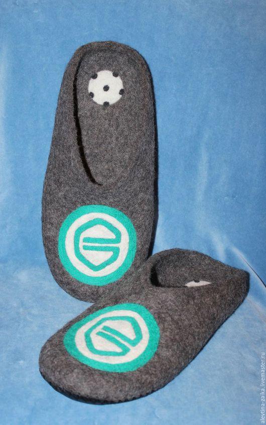 Обувь ручной работы. Ярмарка Мастеров - ручная работа. Купить спортивные тапочки. Handmade. Темно-серый, тапочки домашние