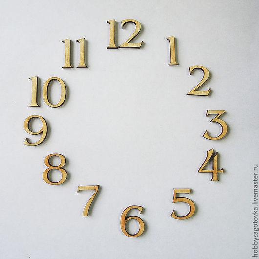 Декупаж и роспись ручной работы. Ярмарка Мастеров - ручная работа. Купить Комплект цифр для часов F-0087. Handmade. Белый