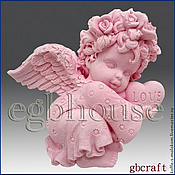 Материалы для творчества handmade. Livemaster - original item Silicone molds for soap Angel boy / girl with heart. Handmade.