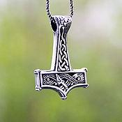 Украшения handmade. Livemaster - original item Pendant Hammer of the torus with the image of Yormungand. Handmade.
