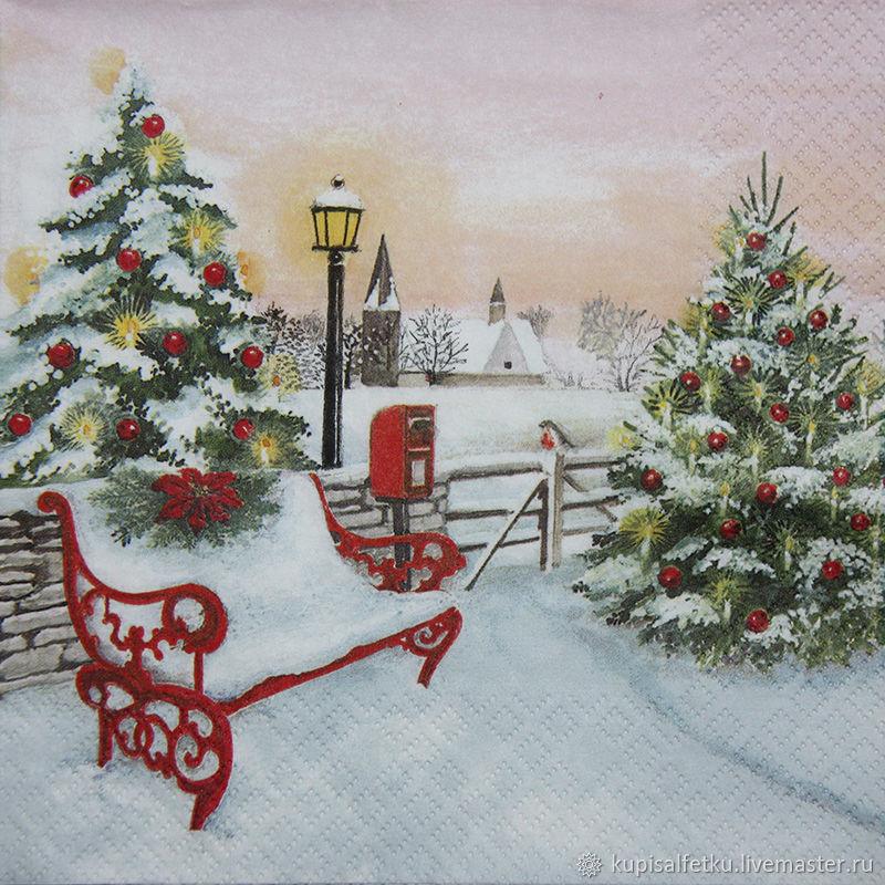 свои декупаж картинки новогодние елки предлагаем