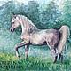 Животные ручной работы. Ярмарка Мастеров - ручная работа. Купить Арабчик в лесу (Перламутр). Handmade. Лошадь, лесной, бумага для альбомов