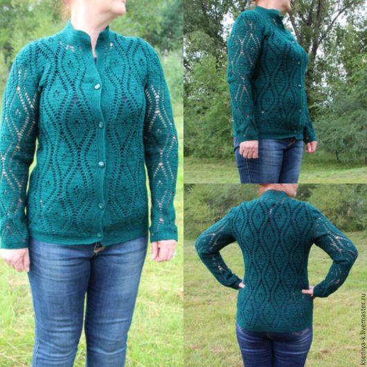 Пиджаки, жакеты ручной работы. Ярмарка Мастеров - ручная работа. Купить Жакет темный изумруд. Handmade. Тёмно-зелёный