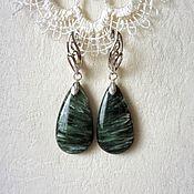 Украшения handmade. Livemaster - original item Earrings serafinite. Handmade.