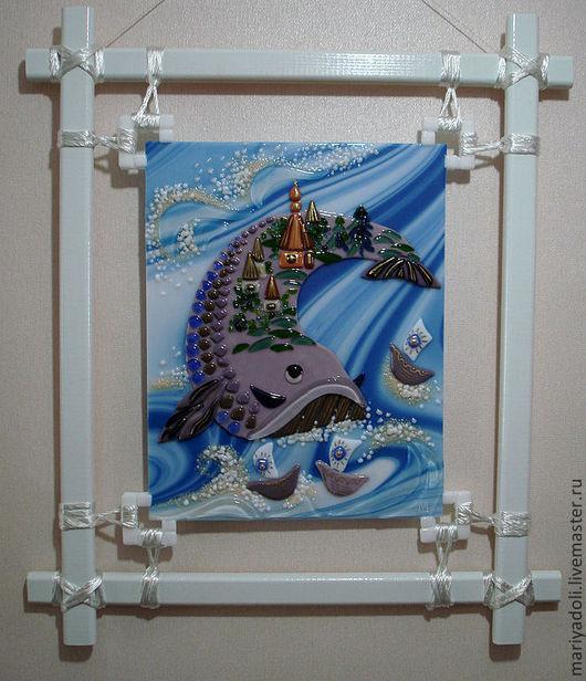 Животные ручной работы. Ярмарка Мастеров - ручная работа. Купить Рыба-кит. Handmade. Голубой, рыба, сказочная, Фьюзинг