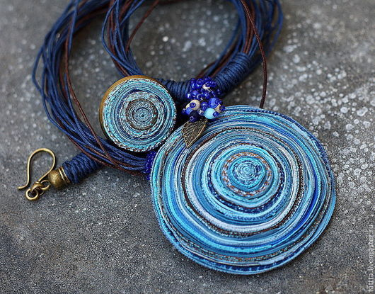 Кулоны, подвески ручной работы. Ярмарка Мастеров - ручная работа. Купить кулон из полимерной глины голубые сны 2. Handmade.