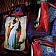 """Женские сумки ручной работы. Сумка """"Поцелуй"""". O.Yegorova. Интернет-магазин Ярмарка Мастеров. Рисунок, сумка из натуральной кожи"""