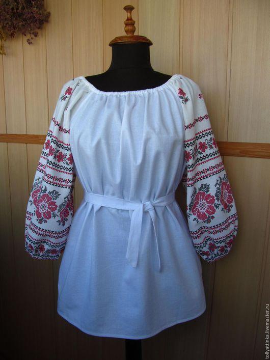 """Одежда ручной работы. Ярмарка Мастеров - ручная работа. Купить Блуза в фольклорном стиле """"Вышиванка"""". Handmade. Комбинированный, бохо стиль"""