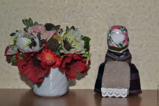 Народные куклы ручной работы. Ярмарка Мастеров - ручная работа. Купить Оберег на удачное замужество. Handmade. Разноцветный