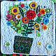 Картины цветов ручной работы. Ярмарка Мастеров - ручная работа. Купить букет. Handmade. Белый, интерьер кухни, хб ткань